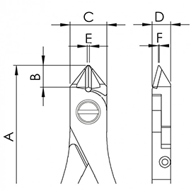 Ergo-tek Cutters with Tapered Heads diagram